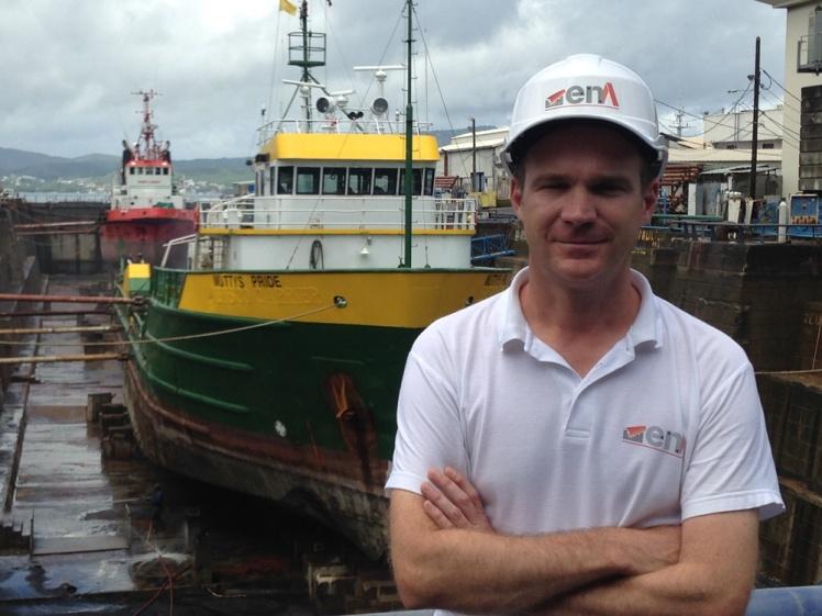 Gaétan Cocaut, responsable réparation navale d'Ena, se réjouit d'avoir une visibilité jusqu'en juin 2017.